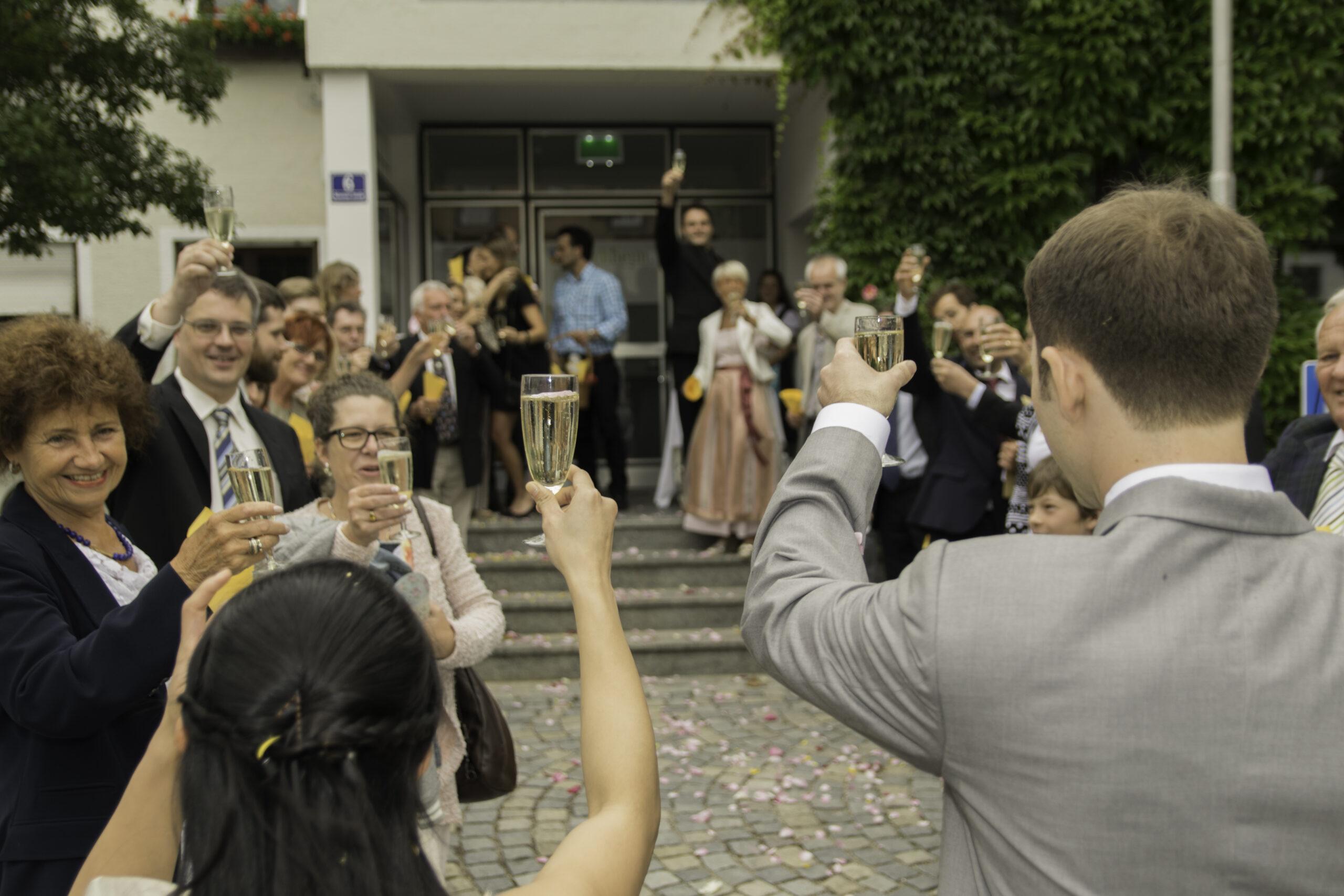 Hochzeits Salut